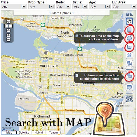 Search Properties For Sale in Vancouver with Map